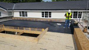 Eden installation rubber roofing system