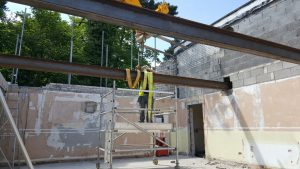 Installation of steel beams